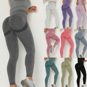Women Gym Seamless Fitness Leggings High Waist Running Sports Yoga Pants Trouser