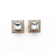 Clip On Earrings Vintage Avon Square