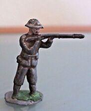 Soldat ancien plomb creux soldat tirant au fusil Années 50