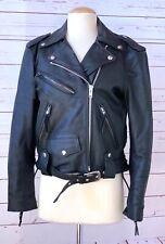 HARLEY DAVIDSON Womens Size S Small Leather Black Moto Biker Jacket Motorcycle