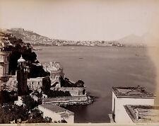 NAPOLI c. 1875 - 2 Photos Sommer - Vista da Posilipo Villa Comunale Italie  - 6