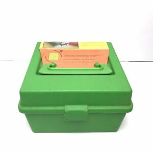 MTM Case-Gard Deluxe R-100 Series Ammo Box 100 Rounds Green Holds Several Sizes