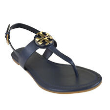 1477a3661 NIB Tory Burch Bryce Vegan Leather Sandal in Bright Navy 9