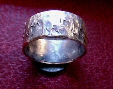 OLD WORLD HAMMERED 925 SILVER VIKING RING SIZE 11,   1/3 of oz. 10g, Custom!