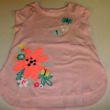 b2636eb2ad3f7 NWT Girls Size 4 BUTTERFLY Flowers Pink Short Sleeve Shirt Kohl's Jumping  Beans