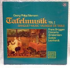Telemann Tafelmusik Vol.1 Bruggen Leonhardt - Telefunken Box Set 11537 N/MINT