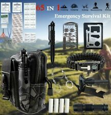 65 IN 1 Camping Survival Gear Kit Military Tactical Emergency EDC Outdoor Tool