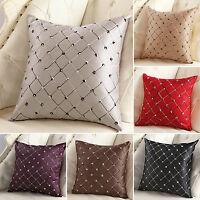 Plaid Cotton Linen Vintage Throw Cushion Cover Pillow Case Waist Home Sofa Decor