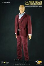 "TOYS CITY Mens Homme Fashion Suits Set Red Color 1/6 Fit for 12"" action figure"