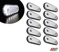 10 White 24v 20 Led Oval Front Side Marker Lights Lamps For Man Daf Scania