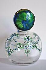 Fine Antique Blue Guilloche Cymric Enamel Sterling Silver Perfume Bottle Liberty