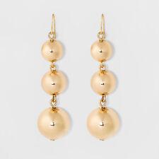 Ball Drop Earrings Nwt Sugarfix by BaubleBar Gold