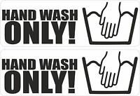 set of 2 sticker vinyl decal car bike tuning JDM tuning hand wash only funny