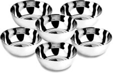 10 X Stainless Steel Small Bowls Steel Katori set