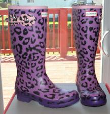 HUNTER  RAIN BOOTS LEOPARD PRINT  BIG KIDS #5 $80
