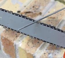 Lime pour affutage manuel chaine de tronconneuse diametre 3,2 mm lot de 3 piece