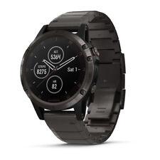 Garmin fenix 5 Plus Sapphire Carbon Gray Watch w/ DLC Titanium Band 010-01988-02