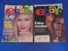 eBay Magazine - Two Early Issues -- Premiere Edition & January, 2000 - Excellent