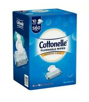 Cottonelle Flushable Wipes Travel and Reclosable - 560 Value Pack