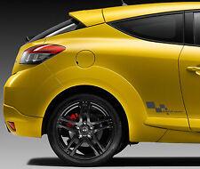 Renault Deporte Bandera a cuadros 350mm Ancho Par De Pegatinas Satén Negro