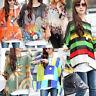 Women Loose Dolman Sleeve Tops Bohemian Oversized Chiffon Floral Blouse T-Shirt