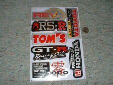 Decals / stickers R/C radio controlled Toyota GT-R Tom's RSR Honda etc  G66