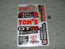 Decals / stickers R/C radio controlled Toyota GT-R Tom's RSR Honda etc  G66