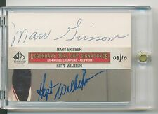 2011 SP Legendary Cuts HOYT WILHELM MARV GRISSOM DUAL CUT AUTO 3/10 GIANTS HOF