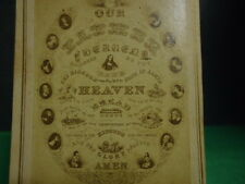 """CDV of """"The Lord's Prayer"""" w/Pictures of the 12 Disciples Around the Words"""