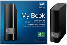 WD Western Digital 4TB MY BOOK External Hard Drive 3.0 USB WDBFJK0040HBK 4 TB