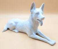 Tolle Qualität: Porzellanfigur Schäferhund, Porzellan, Sitzendorf, 28 cm Nr. 2