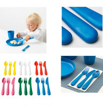 IKEA Kids 18-Pc Plastic Cutlery Set KALAS Spoon Fork Knife BPA FREE Shipping NEW