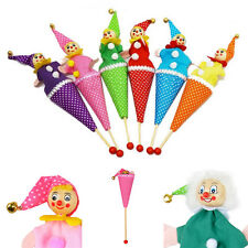 1 Pcs Clown Puppet Toy Baby Educational Pop Up Telescopic Doll Styles Random T*