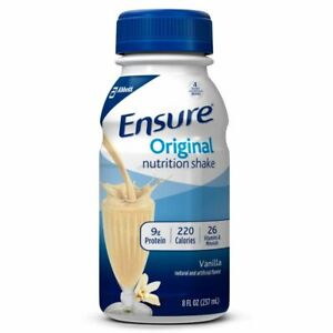 Ensure Original Nutrition Shake Vanilla Flavor 8 oz ( Pack of 6 )