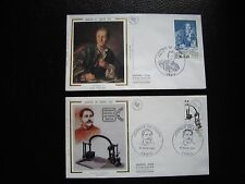 FRANCE - 2 enveloppes 1er jour 1984/1985 (journee timbre) (cy92) french