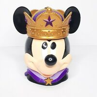 DISNEY MICKEY MOUSE FLIP TOP KING CROWN CUP DISNEY ON ICE SOUVENIR MUG