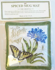 New listing Alice's Cottage Cotton Scented Spiced Mug Mat Coaster Agapanthus Butterfly - New