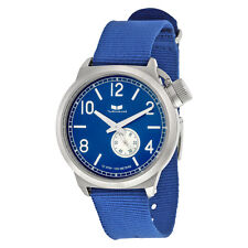 Vestal Canteen Zulu Blue Dial Nylon Strap Mens Watch CAN3N07