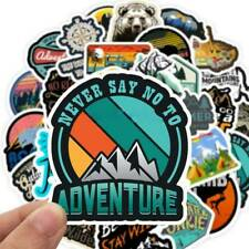 50Pcs/Pack Camping Travel Stickers Wilderness Adventure Landscape Sticker Decals