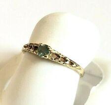 Genuine Natural  Alexandrite .12tcw 14k yellow gold birthstone ring sz 3 NWOT