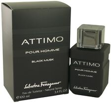 Salvatore Ferragamo Attimo Black Musk Cologne Men Perfume Edt Spray 3.4 oz 100ml