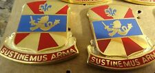 MILITARY INSIGNIA CREST DUI SET OF 2 738TH SUPPORT BN SUSTINEMUS ARMA