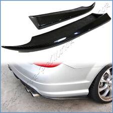 Fit W204 BENZ 08-11 C300 C350 C63 Sedan AMG Rear Bumper Carbon Side Splitter Lip