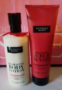 New Victoria's Secret Pomegranate Body Lotion & Scrub Wash