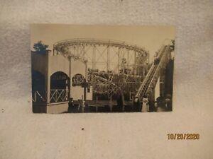 Vintage RPPC Amusement Park Roller Coaster