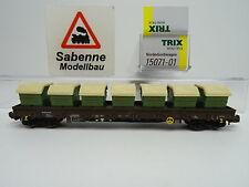 Minitrix 15071-01 4-achsiger Rungenwagen beladen mit Mulden AWILOG OVP C8