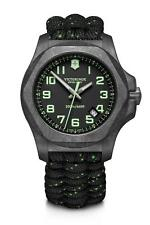 Victorinox I.N.O.X Grey Carbon Space Tested Super Luminova Mens Watch Set 241859