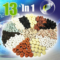 13 In 1 Aquarium Fish Tank Pond Biological Ring Bio Ball Filter Media 500g