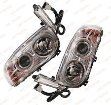 QSC Right & Left Side Headlights Set w/ Projector + Bulbs for Peterbilt 388 389