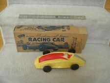 Early 1960's Irwin Plastics Mechanical Super Racing Car NEW in Original Box!